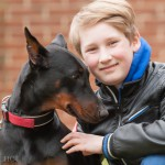001 - Dobermann mit Kind
